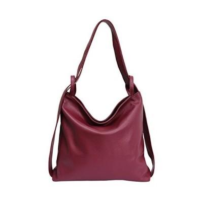 Italian leather bag, women's handbag backpack 2 in 1 women's backpack Daypack shoulder bag ladies handbag bag GL019 (bordeaux) 並行輸入品