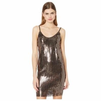 ベベ Bebe レディース ワンピース スリップドレス ワンピース・ドレス Sequence Slip Dress Black/Gold