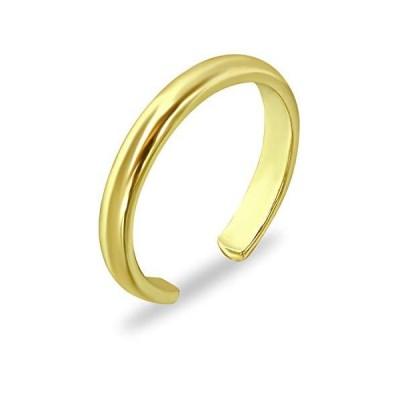 (新品) Sea of Ice Yellow Gold Flashed Sterling Silver Polished Finish Adjustable Band Toe Ring