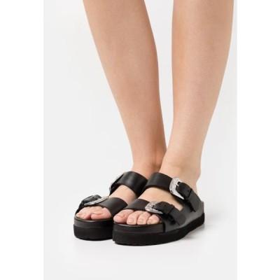 レディース 靴 シューズ Mules - black/silver