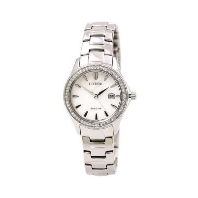腕時計 シチズン Citizen FE1140-86D Women's White MOP Dial Steel Bracelet Watch