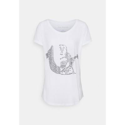 トゥルーレリジョン Tシャツ レディース トップス RELAX CREW - Print T-shirt - white