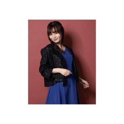 リネーム Rename フリンジデザインツイードジャケット (ブラック)