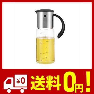 vkchef オイルボトル 醤油差し 酢ボトル ドレッシング ボトル 片手オイル入れ 耐熱ガラス ステンレス オイルポット 油容器 自動的に開の注ぎ口