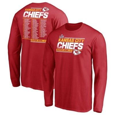 NFL Tシャツ チーフス 第55回スーパーボウル記念 レッド メンズ tシャツ 長袖 ロンT ロンt Play Action Roster SB55