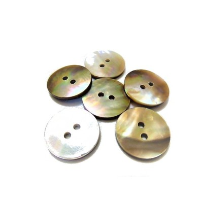 ボタン 手芸 素材 茶蝶貝 茶色系 20mm 2つ穴 縁なし 貝ボタン 5個入り