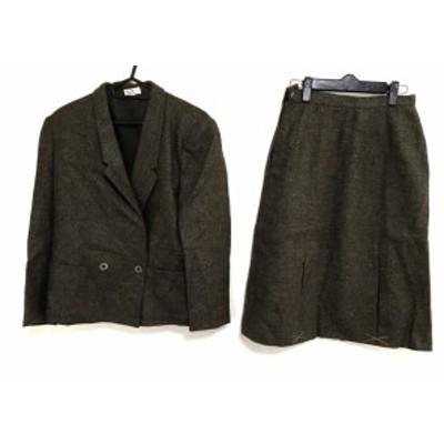 インフィニート INFINITO スカートスーツ サイズ40 M レディース ダークブラウン×カーキ【中古】
