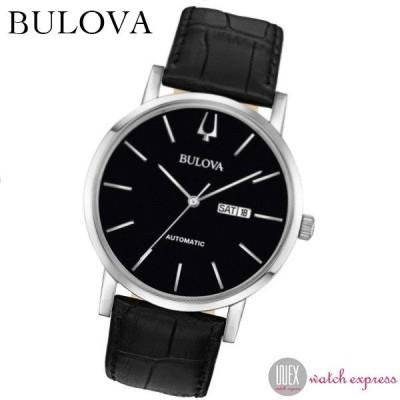 ブローバ BULOVA 時計 クラシック 自動巻 96C131 メンズ ブラック 腕時計 オートマチック