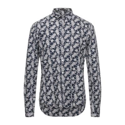 OFFICINA 36 シャツ ダークブルー XL コットン 100% シャツ