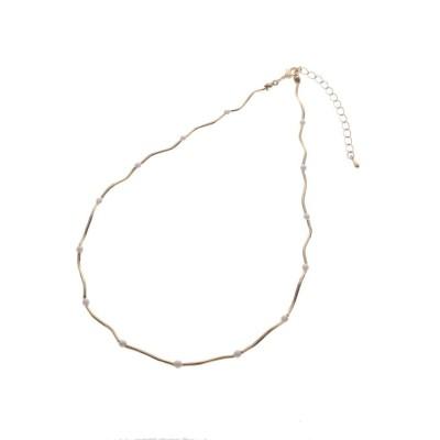 Couture Brooch(クチュールブローチ) ウェーブライン×パール調ビジューネックレス