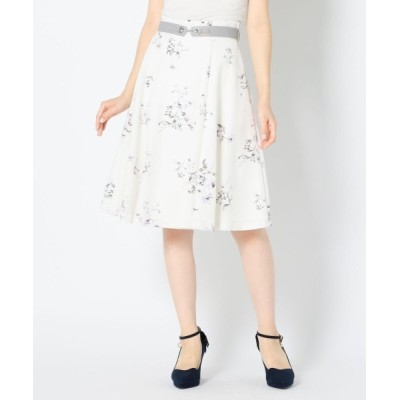 MISCH MASCH / ビットベルト付き花柄スカート WOMEN スカート > スカート