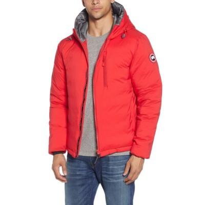 カナダグース CANADA GOOSE メンズ ダウン・中綿ジャケット フード アウター Lodge Packable Windproof 750 Fill Power Down Hooded Jacket Red