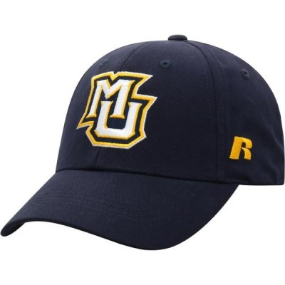 メンズ スポーツリーグ アメリカ大学スポーツ Men's Russell Athletic Navy Marquette Golden Eagles Endless Adjustable Hat - OSFA