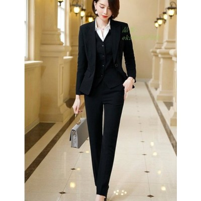 レディース 長袖 パンツ グレー 3点セット ブラック スカート おしゃれ 上品 長袖 大きいサイズ テーラードジャケット 送料無料 お出かけ セットアップ