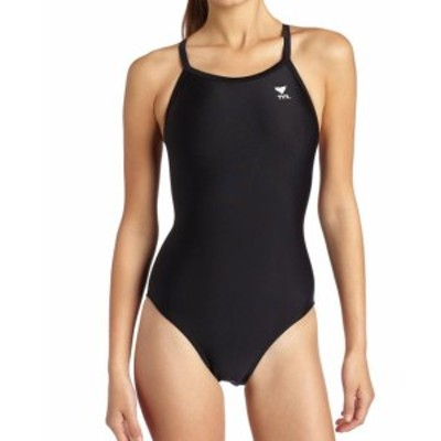 tyr ティア スポーツ用品 スイミング TYR Deep Black Womens Size 36 Cutout Back One-Piece Solid Swimwear
