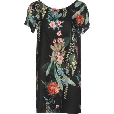 MARIAGRAZIA PANIZZI ミニワンピース&ドレス ブラック 42 コットン 100% / レーヨン ミニワンピース&ドレス