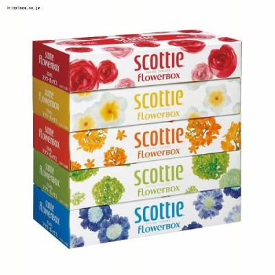 日本製紙クレシア スコッティ ティシュー フラワーボックス 320枚(160組) 5箱