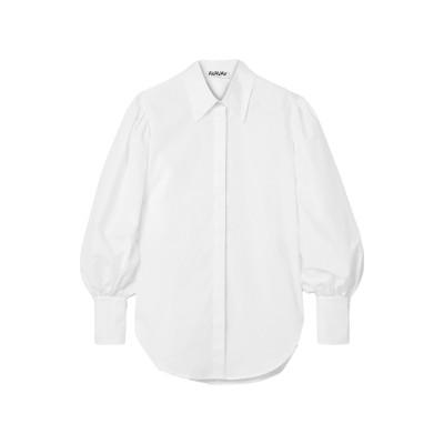 AVAVAV シャツ ホワイト L コットン 100% シャツ