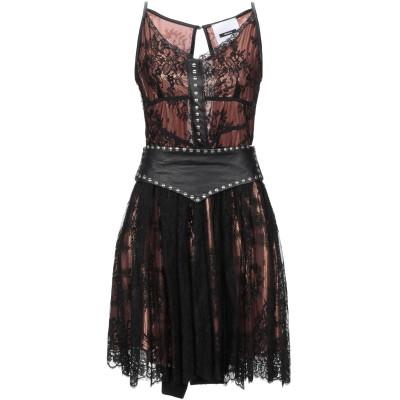 DIMORA ミニワンピース&ドレス ブラウン 38 ポリエステル 100% / 革 ミニワンピース&ドレス