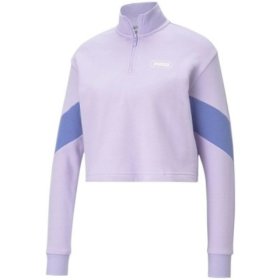 プーマ カットソー トップス レディース Rebel Half-Zip Cropped Sweatshirt Light Lavender