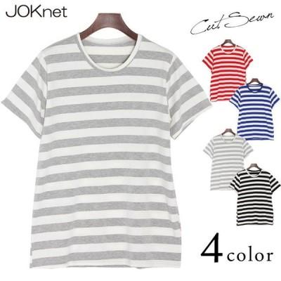 Tシャツ ボーダー柄 半袖 カットソー ゆるテロ レディース