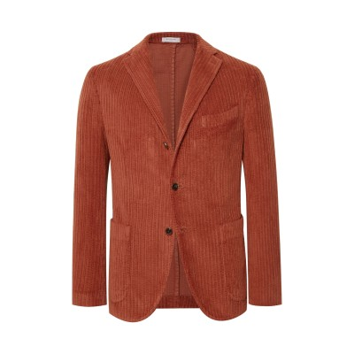 ボリオリ BOGLIOLI テーラードジャケット 赤茶色 50 コットン 100% テーラードジャケット