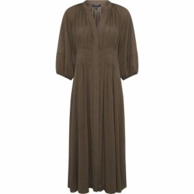 フレンチコネクション French Connection レディース ワンピース ワンピース・ドレス Cora Pleated Dress Tarmac Khaki