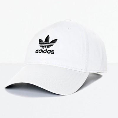 Adidas/アディダス adidas メンズ キャップ 帽子 ベースボールキャップ ホワイト Men's Trefoil Curved Bill White Strapback Hat