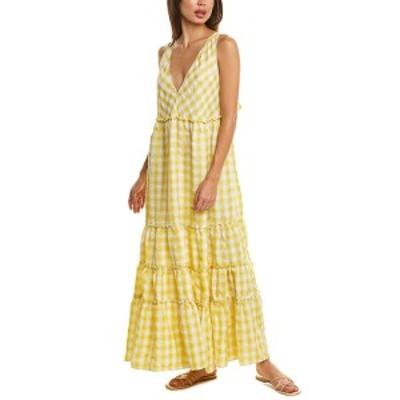 フリーピープル レディース ワンピース トップス Free People Beach Club Maxi Dress yellow combo