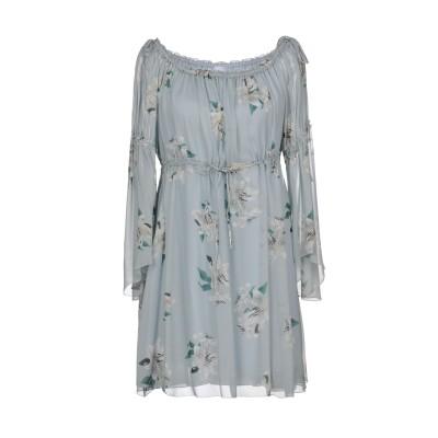 ドンダップ DONDUP ミニワンピース&ドレス ライトグレー 42 シルク 100% ミニワンピース&ドレス