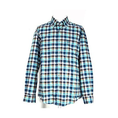 80434 Vittorio Carini ボタンダウンシャツ 長袖 ライトブルー 48(L) サイズ 日本製 メンズ カジュアル 男性 秋冬 春 ゴ