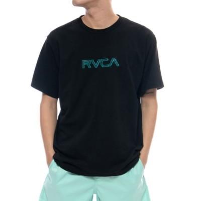 tシャツ Tシャツ RVCA メンズ  GLITCH BIT SS Tシャツ【2021年夏モデル】/ルーカ半袖バックプリントTシャツ