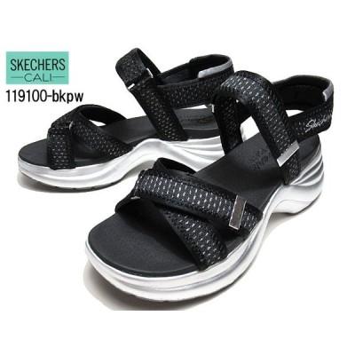スケッチャーズ SKECHERS Solei St. - MOOD SHINER 119100 ブラックピューター 厚底サンダル レディース 靴