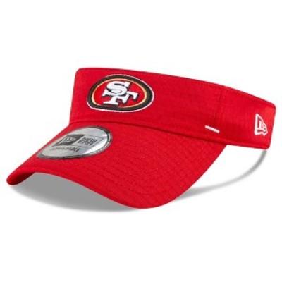 ニューエラ メンズ 帽子 アクセサリー San Francisco 49ers New Era 2020 NFL Summer Sideline Official Visor Red