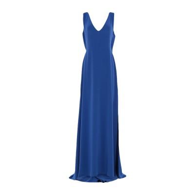ALEX VIDAL ロングワンピース&ドレス ブルー 40 トリアセテート 80% / ポリエステル 20% ロングワンピース&ドレス