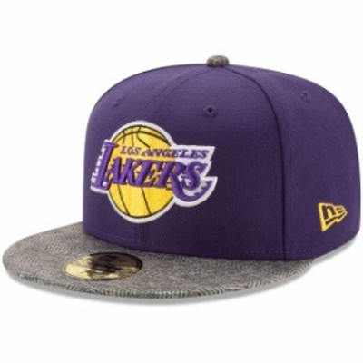New Era ニュー エラ スポーツ用品  New Era Los Angeles Lakers Purple Gripping Vize 59FIFTY Fitted Hat