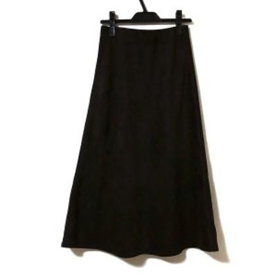 ノーリーズソフィー NOLLEY'S sophi ロングスカート サイズ36 S レディース 美品 - ダークブラウン ウエストゴム【中古】20210331