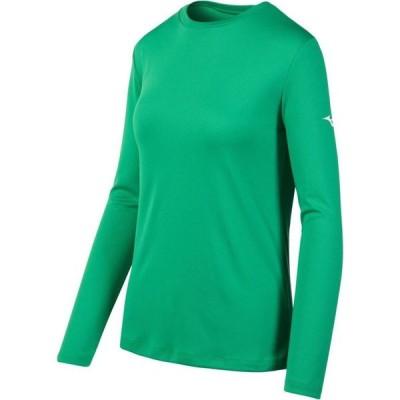 ミズノ Mizuno レディース 長袖Tシャツ トップス Long Sleeved Tee Kelly Green