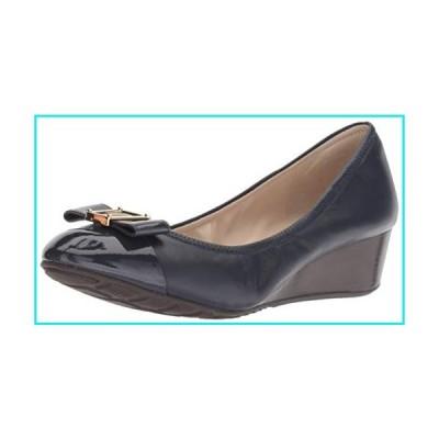 Cole Haan Women's Emory Bow Wedge (40MM) Pump, Marine Blue Leather, 7.5 B US【並行輸入品】