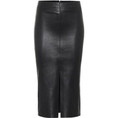 ストールス Stouls レディース ひざ丈スカート スカート Ocean Drive leather midi skirt Noir