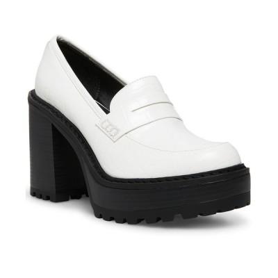 マッデンガール サンダル シューズ レディース Kassidy Platform Lug Sole Loafers White Croco