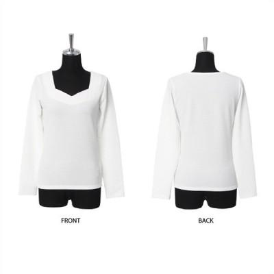 Tシャツ カットソー デコルテデザインリップル風トップス s50 長袖 レディース レディース メンズ 長袖 長袖 メンズ ワンピース 七分袖 ボート