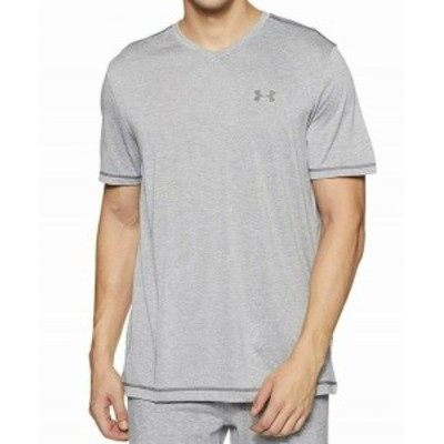 Under Armour アンダー アーマー ファッション トップス Under Armour Mens Gray Size Large L Logo Stretch V Neck Tee T-Shirt