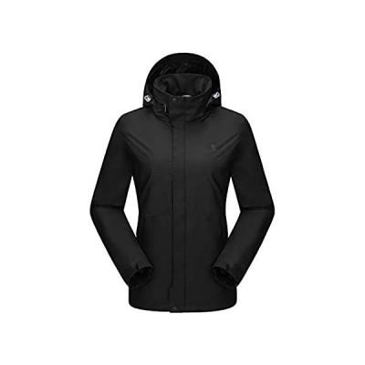 特別価格CAMEL CROWN レディース レインジャケット 防水コート 隠しフード付き US サイズ: Medium好評販売中
