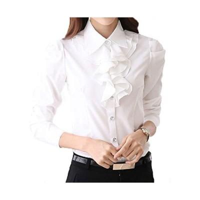 カッターシャツ リボン フリル ブラウス レディース スーツ 長袖 ビジネス(s2111131760)