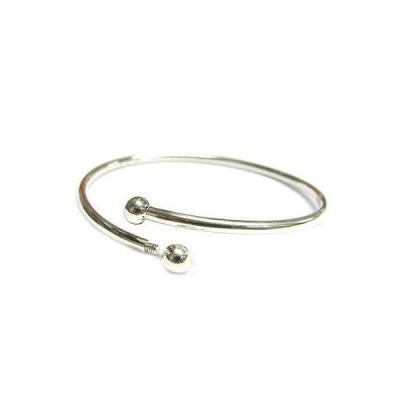 ジュエリー ファッション ブレスレット Queenberry Sterling Silver Flex Bangle Cuff Caprice Bracelet with Screw End Euro