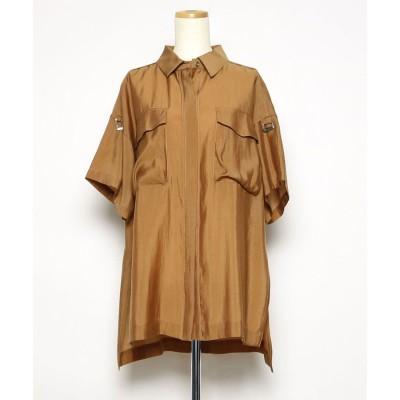アウラアイラ AULA AILA オーバーサイズシャツ (ブラウン)