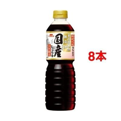 イチビキ 食品添加物無添加 国産しょうゆ 天然醸造 ( 800ml*8本セット )/ イチビキ
