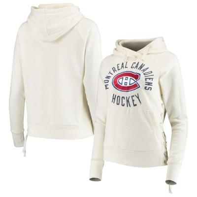 タッチ バイ アリッサ ミラノ レディース パーカー・スウェット アウター Montreal Canadiens Touch by Alyssa Milano Women's Weekend Raglan Pullover Hoodie
