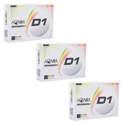【まとめ買いがお得!!】 ホンマ 本間  ニュー D1 ダイナミックディスタンス ローナンバー ゴルフボール 3ダース(36個) 2020年モデル